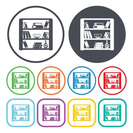 Illustration of vector bookstand icon