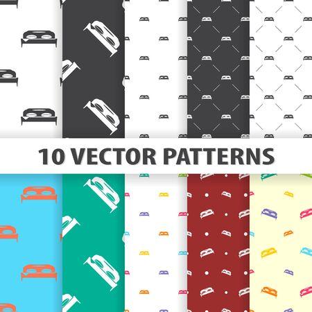 ベッド アイコン パターン ベクトルのイラスト