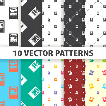 bookstand: Illustration of vector bookstand icon pattern