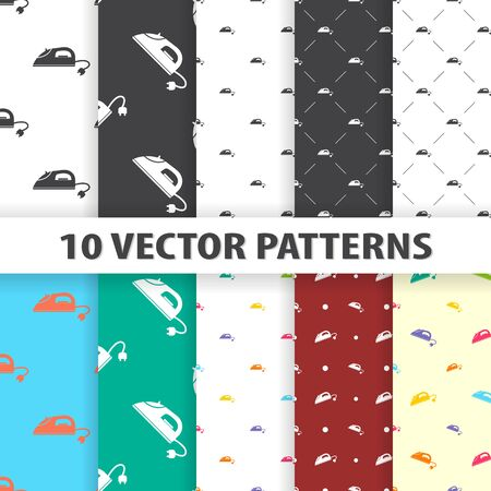 smoothing: Illustration of vector smoothing iron icon pattern