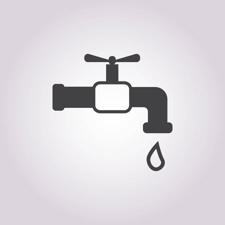 cleanliness: Illustration of vector tap icon Illustration