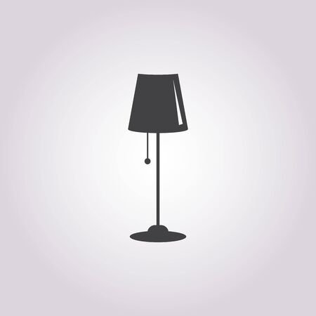 Illustration of vector lamp icon