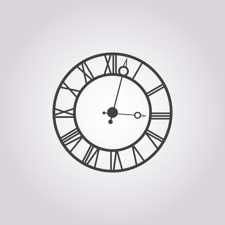 clock icon: Illustration of vector clock icon