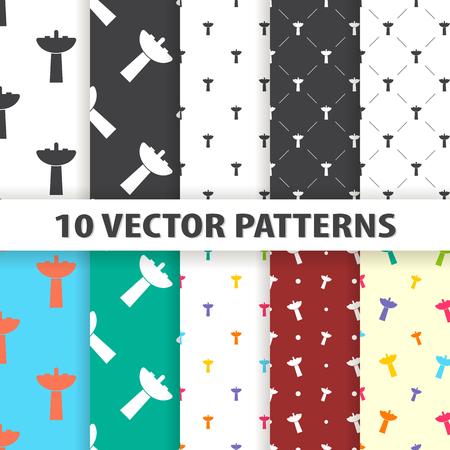 washroom: Illustration of vector washroom icon pattern
