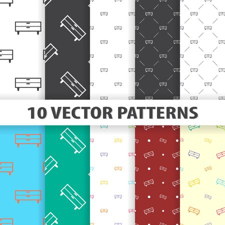 commode: Illustration of vector commode icon pattern Illustration