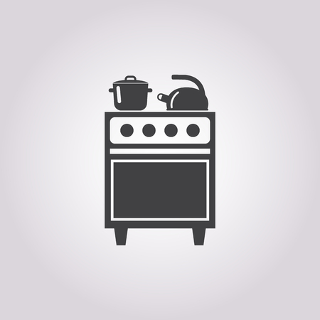 gas cooker: Illustration of vector oven icon Illustration