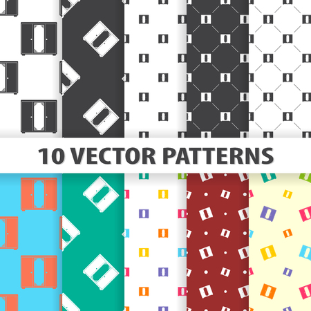 Illustration of vector cupboard icon pattern