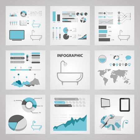 washroom: Illustration of vector washroom icon infographic