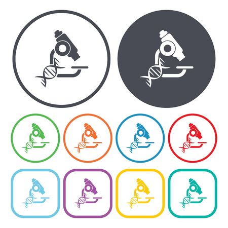 microscope isolated: vector illustration of microscope icon Illustration