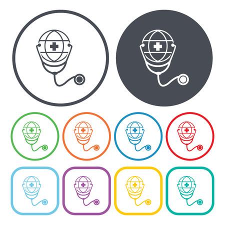 phonendoscope: vector illustration of phonendoscope icon Illustration