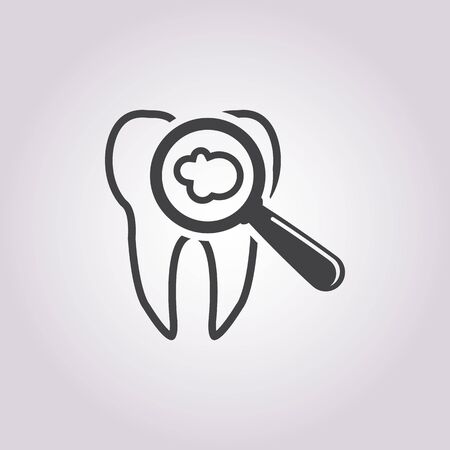 dent: vector illustration of tooth symbol icon Illustration