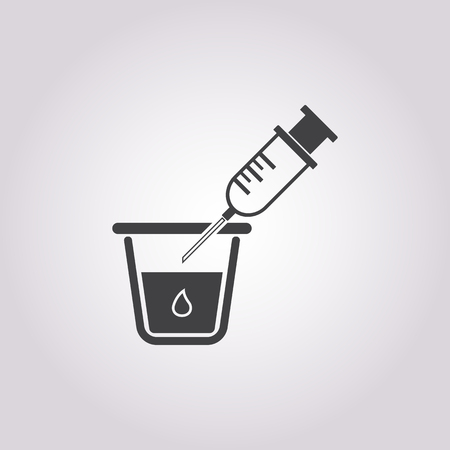 medical syringe: vector illustration of syringe icon