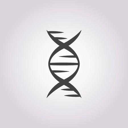 chromosomes: vector illustration of dna icon