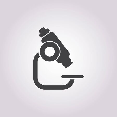 microscopio: ilustración vectorial de icono de microscopio