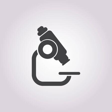 microscope: vector illustration of microscope icon Illustration