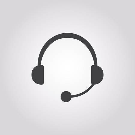 call center headset: Vector illustration of  call center  icon