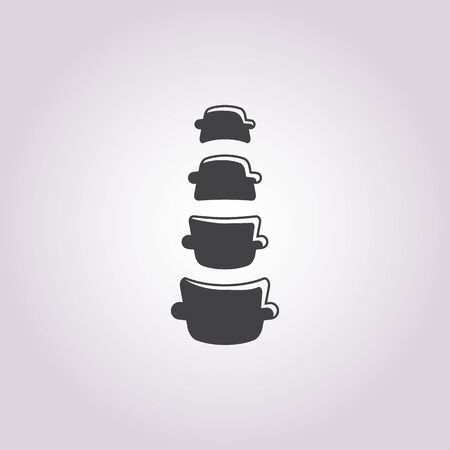 scoliosis: Vector illustration of spine   icon