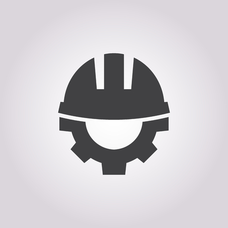 ヘルメット アイコンのベクトル イラスト  イラスト・ベクター素材