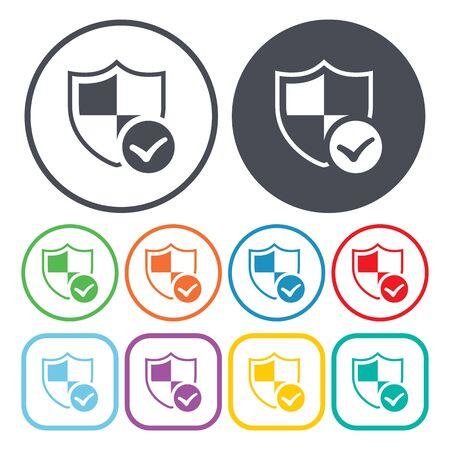 firewalls: Vector illustration of shield   icon Illustration