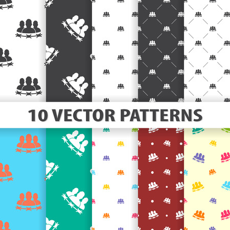 prisoner: vector illustration of prisoner icon pattern Illustration