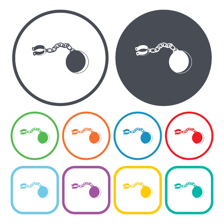 shackle: vector illustration of  chain icon Illustration