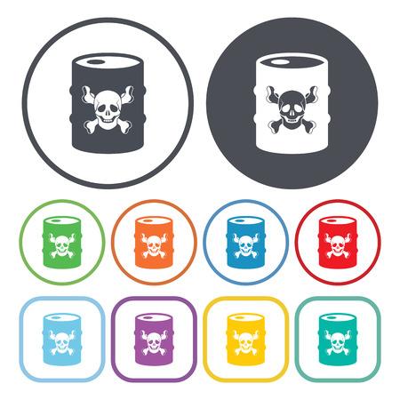 gallon: vector illustration of  barrel icon