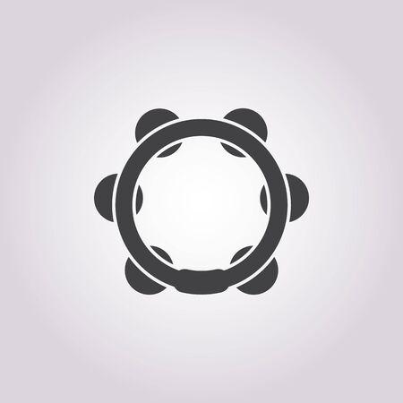 pandero: ilustraci�n vectorial de icono de pandereta