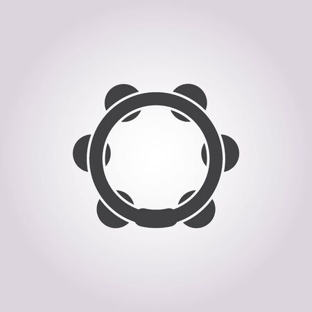 tambourine: vector illustration of  tambourine icon