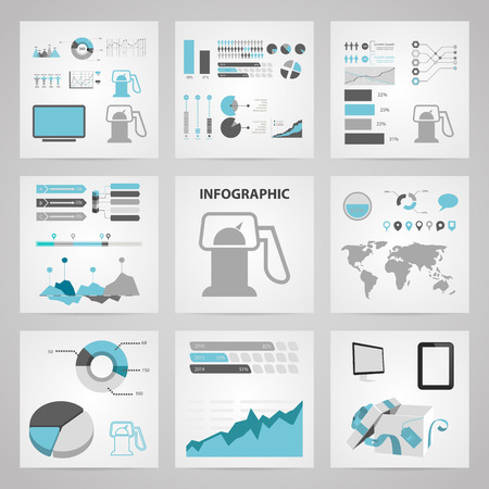 benzine: vector illustration of  gas station icon infographic