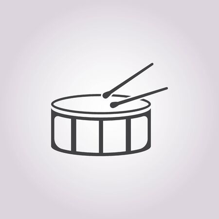 bateria musical: ilustraci�n vectorial de icono de tambor Vectores