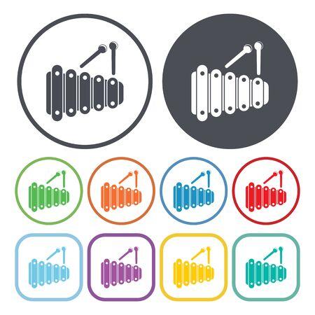 xilofono: ilustración vectorial de icono de xilófono
