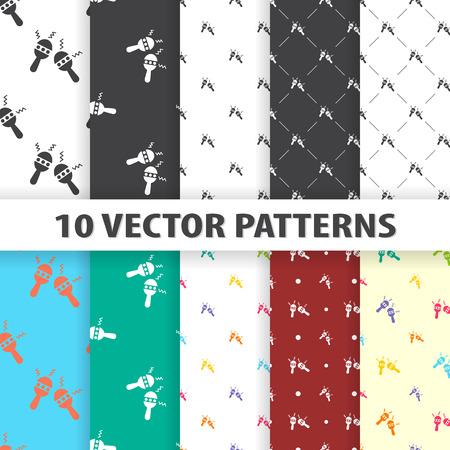 shekere: vector illustration of maracas icon pattern Illustration