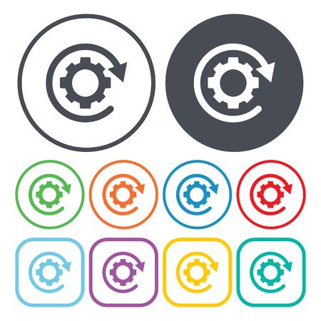 process: vector illustration of gear icon Illustration