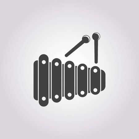 xylophone: vector illustration of xylophone icon