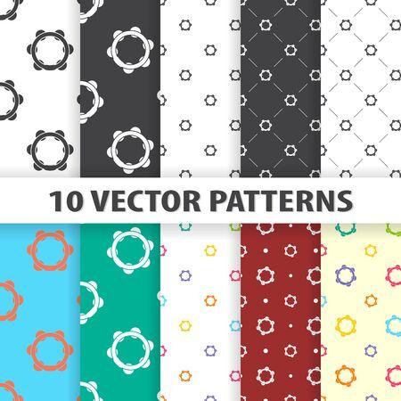 tambourine: vector illustration of  tambourine icon pattern