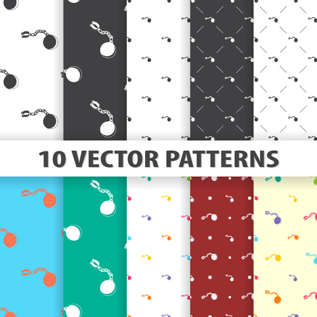 clasp: vector illustration of  chain icon pattern Illustration