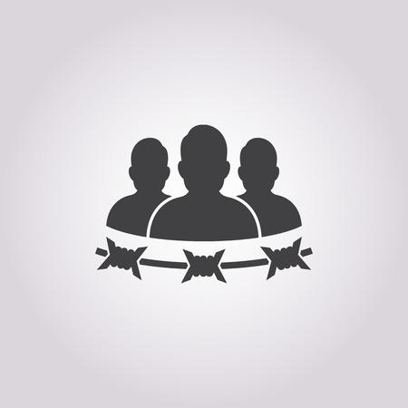 prisoner: vector illustration of prisoner icon