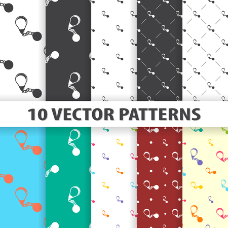 ball chains: vector illustration of bad idea icon pattern