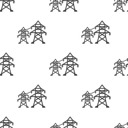 Vector illustration of electric pole icon