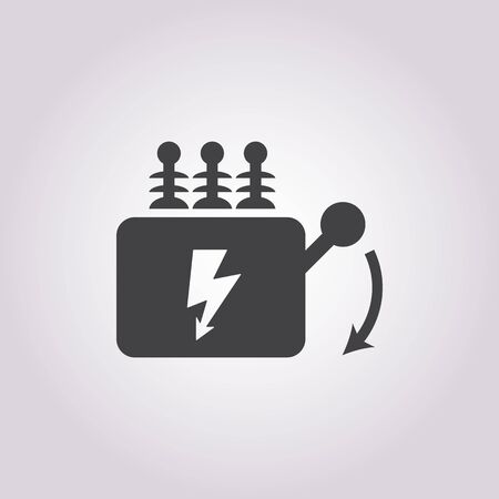 electrical panel: Vector illustration of electrical, panel icon