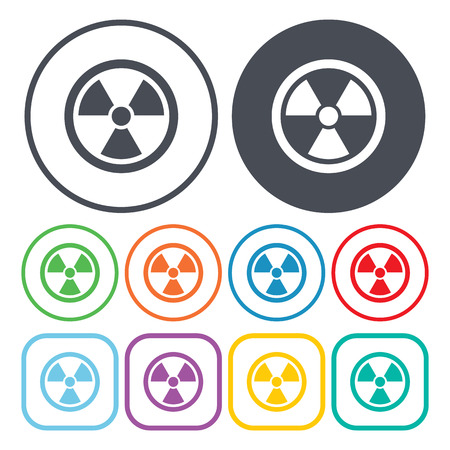 radiation pollution: Vector illustration of nuclear icon