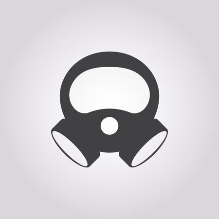 venomous: Vector illustration of mask icon Illustration