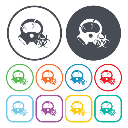 anthrax: Vector illustration of chemical anthrax mask icon Illustration
