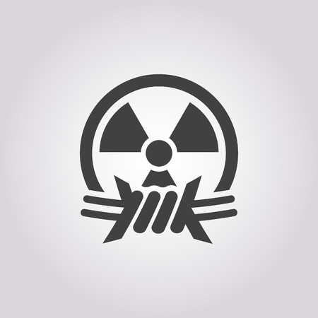 barb wire isolated: Vector illustration of nuclear icon