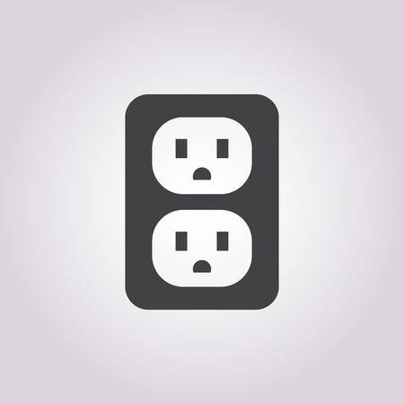 Vector illustration of socket icon