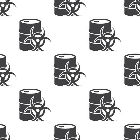 radiation pollution: Vector illustration of barrel icon Illustration