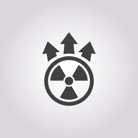 poison arrow: Vector illustration of nuclear icon
