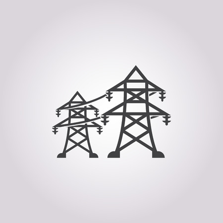 electricity pole: Vector illustration of electric pole icon