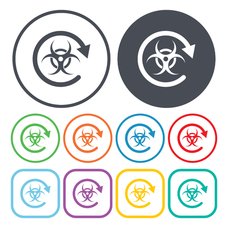 anthrax: Vector illustration of chemical anthrax icon Illustration