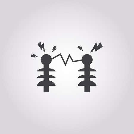 coil: Vector illustration of electric icon